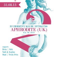 II Urodziny Klubu Sfinks700 – DJ Aphrodite (UK)