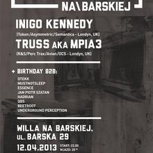 Techno na Barskiej: INIGO KENNEDY + TRUSS/MPIA3