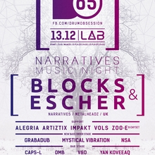 DrumObsession #65: Narratives Music Night with BLOCKS & ESCHER