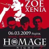 Homage Night no 2 pres. ZOE XENIA