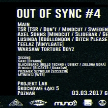 Out of Sync #4: TSR Live X Axel Sohns X Lusinda