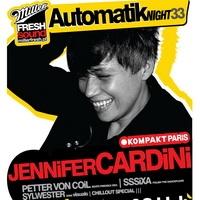 Miller Fresh Sound: Automatik Night 33 feat. JENNIFER CARDINI!