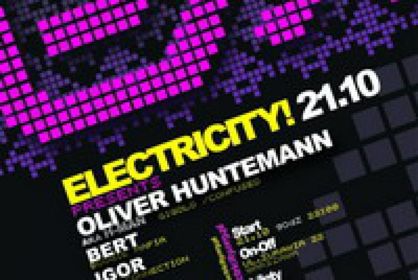 Electricity! pres. Oliver Huntemann 21.10 @ ON-OFF