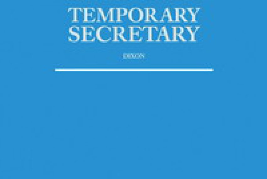 Temporary Secretary