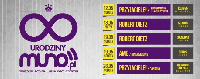 Urodzinowe tournee Muno.pl – BILETY!
