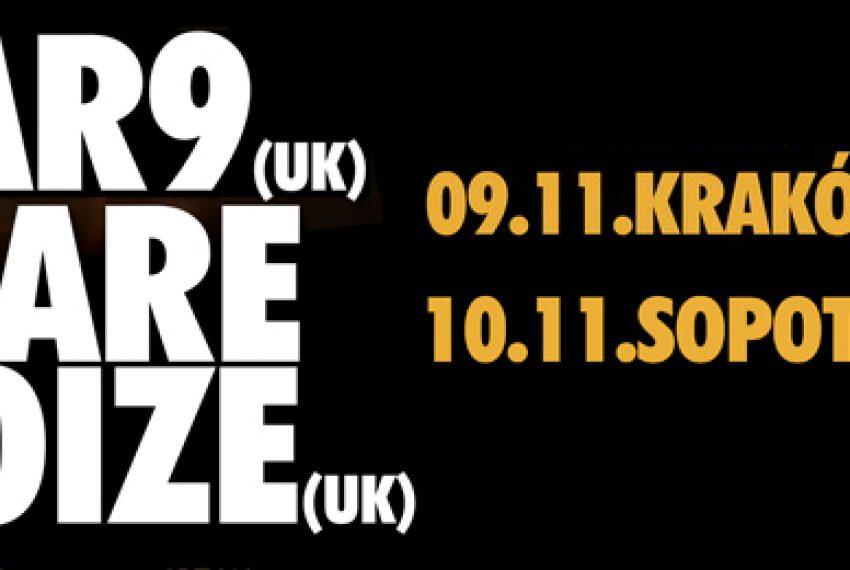 Bar9 & Bare Noize dwa razy w Polsce – BILETY!