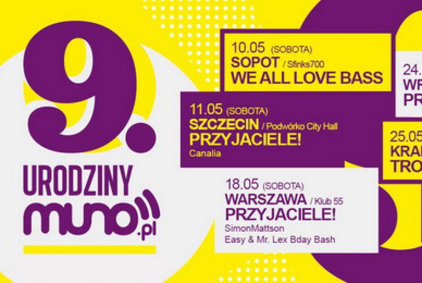 Świętujemy 9. Urodziny Muno.pl!