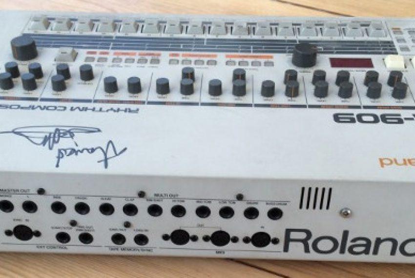 TR-909 Jeffa Millsa wystawiony na aukcji