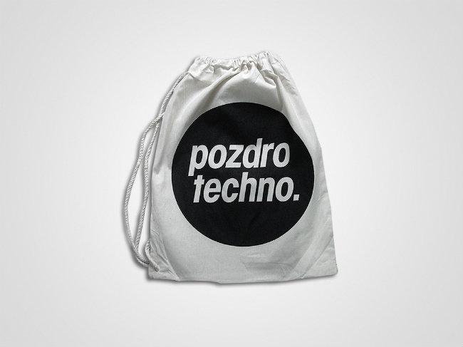 techno worek na prezent świąteczny