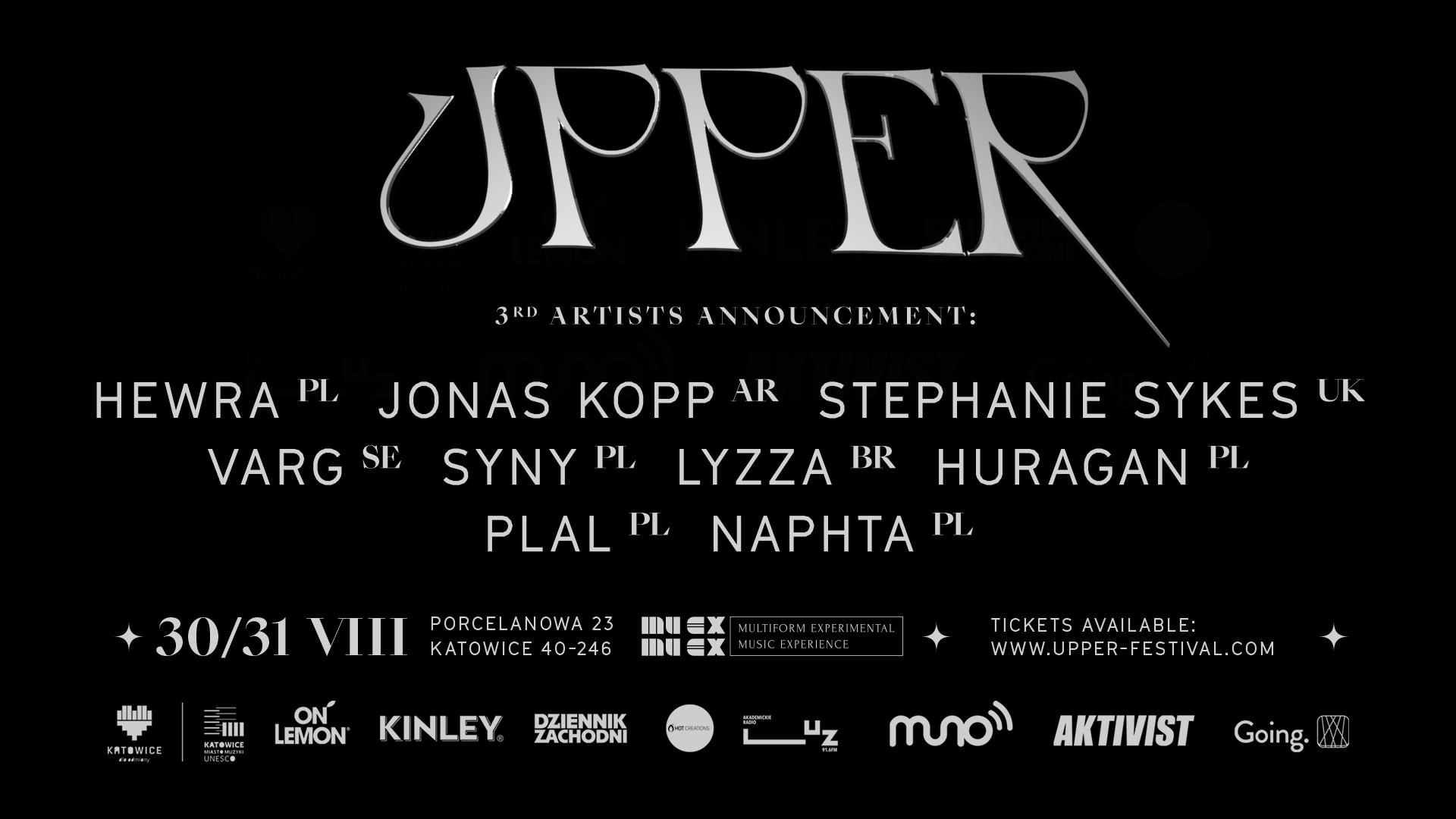 Upper Festival 2019 3. ogłoszenie