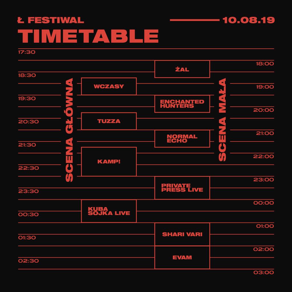 Ł Festiwal 2019 - timeable