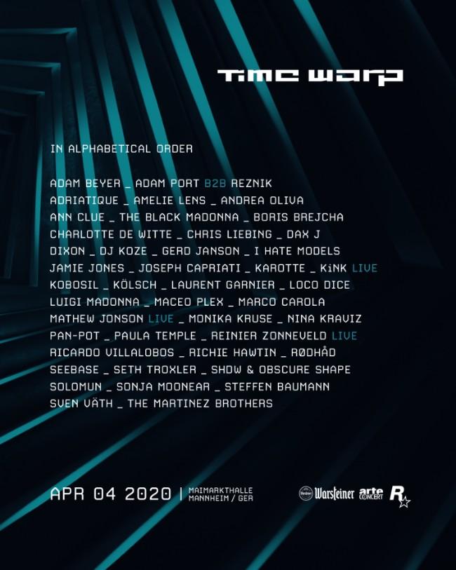 Time Warp 2020 line-up