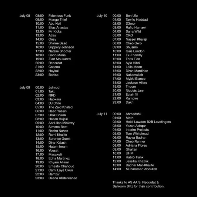 Fil Mishmish - 3-dniowy maraton muzyki - rozpiska wydarzenia