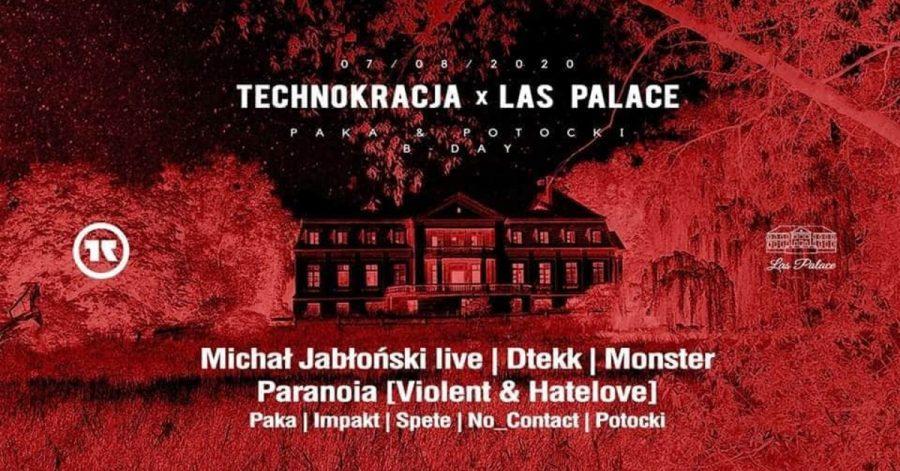 Technokracja przejmuje Las Palace w weekend, 7-8 sierpnia