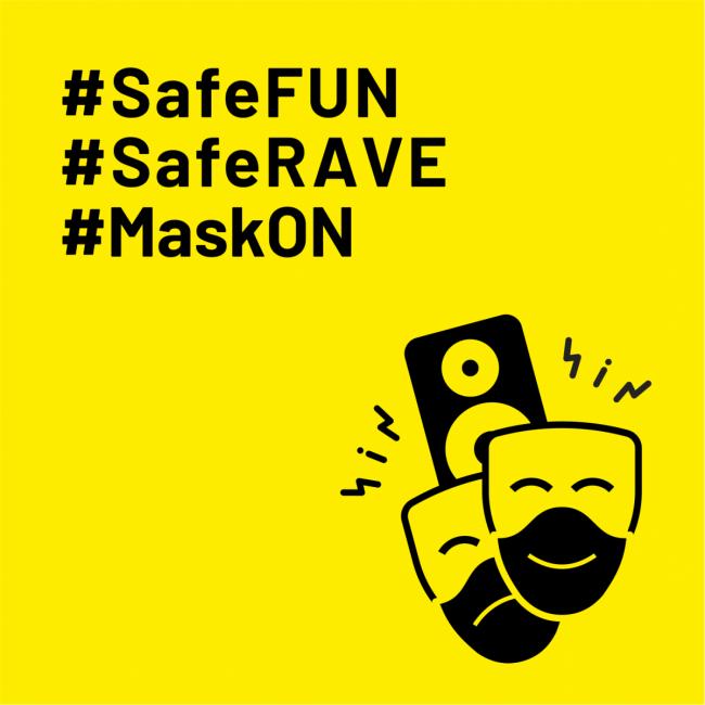 akcja #SafeFUN #SafeRAVE #MaskO