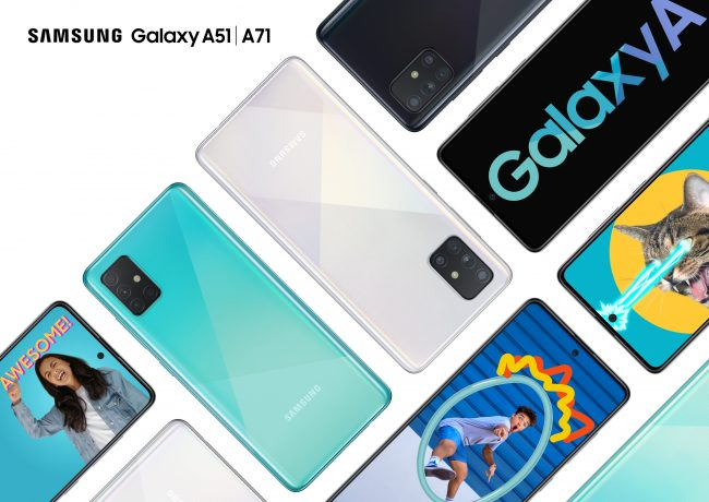 Galaxy A51 + A71 Family Blue