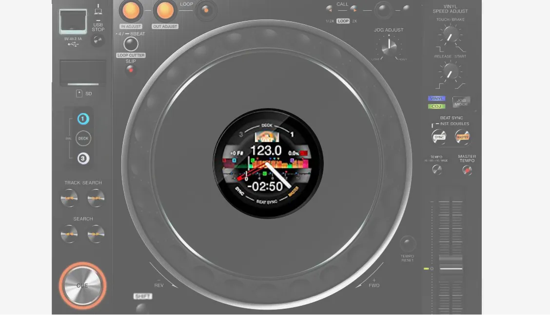 display cdj3000 cdj pioneer nexus nxs