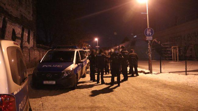 interwencja policji w Berlinie