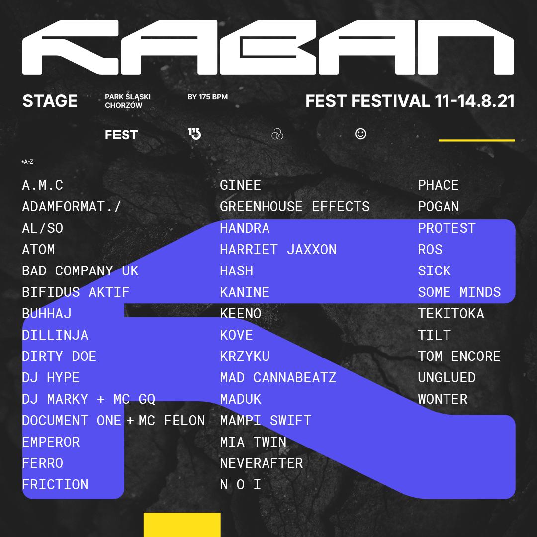 FEST Festival 2021 - nowe ogłoszenia: Raban Stage 2021 by 175 BPM
