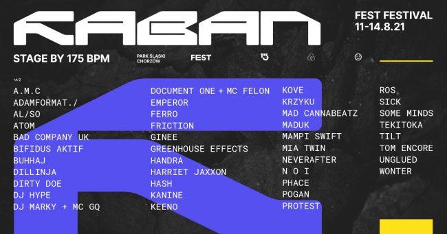 Raban Stage line-up